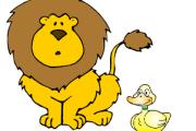 Il leone e l'anatroccolo