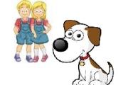 I gemelli ed il cane
