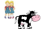 I gemelli e la mucca